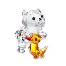 Хрустальная статуэтка Медвежонок с уточкой