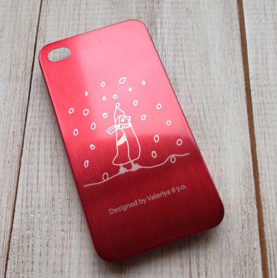 Чехол на телефон с рисунком вашего ребенка