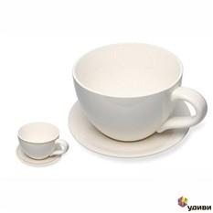 Гигантская чашка с блюдцем