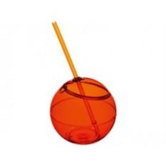 Емкость для питья Fiesta с соломкой (цвет — оранжевый)