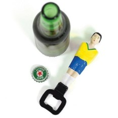 Желтый открыватель для бутылок Football