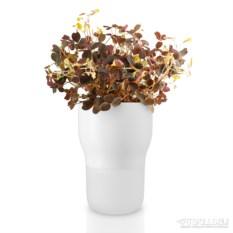 Белый горшок для растений с с функцией самополива d9 см