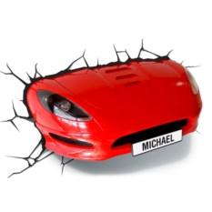 3D-Светильник Красная машина