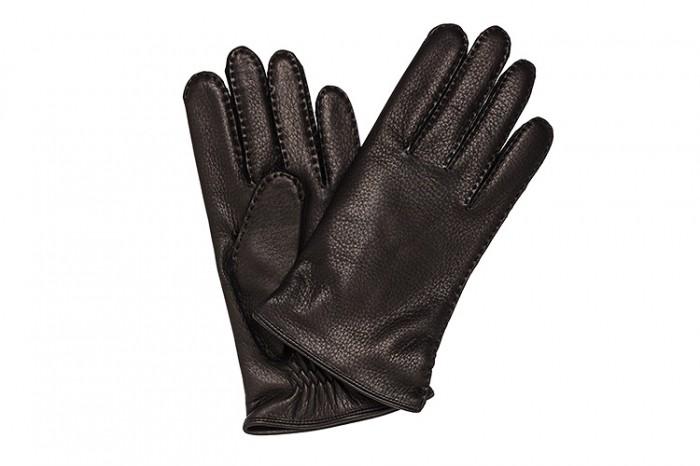 Перчатки Merola из кожи оленя, чёрные