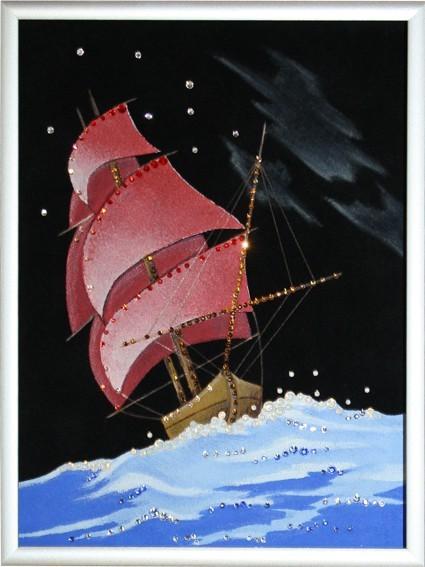 Картина с кристаллами Swarovski Корабль