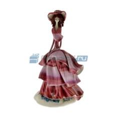 Статуэтка из фарфора Дама в сиреневом платье