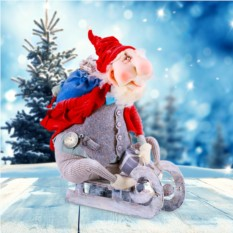 Текстильная кукла EvaDolls Дед Мороз спешит на праздник