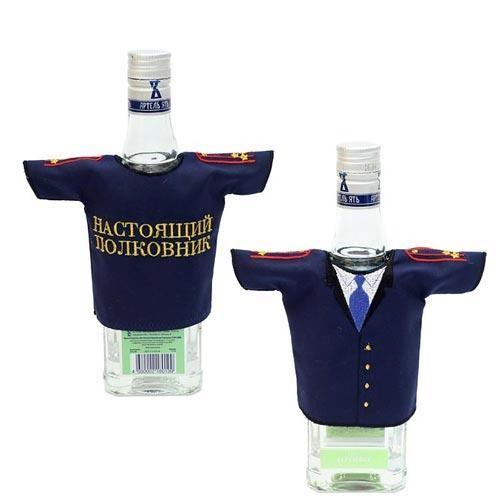Рубашка-насадка на бутылку Настоящий полковник