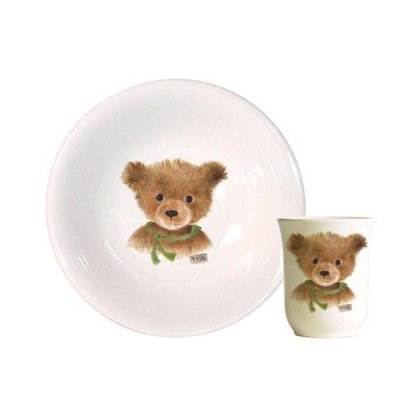Набор детской посуды Gien Мишка с шарфом