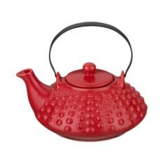 Красный керамический заварочный чайник, объем 800 мл