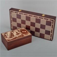 Шахматы с коробкой под фигуры Элитные