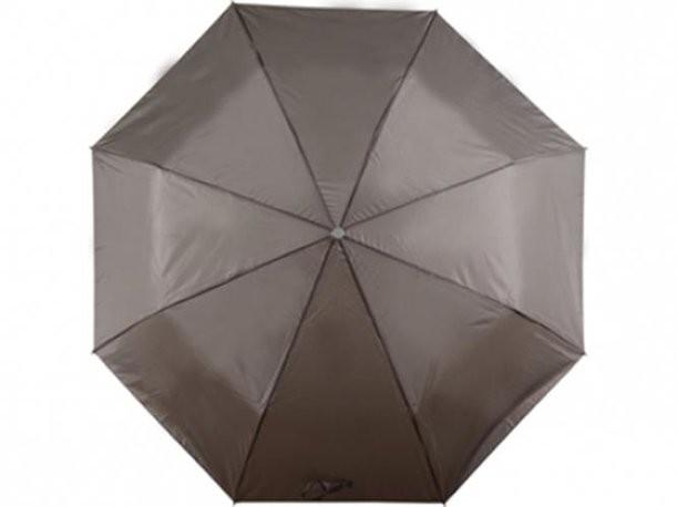Механический серый зонт