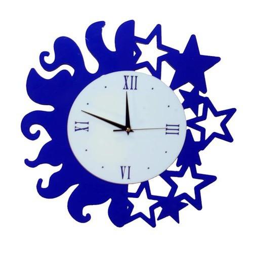 Часы День и ночь, синие