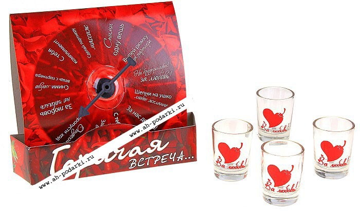 Алкогольная игра Пьяная рулетка. Горячая встреча
