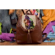 Женский рюкзак с принтом Разноцветный Лондон