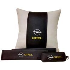 Набор из подушки и накладки на ремень и ключницы Opel