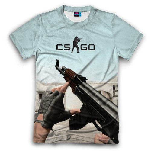 Мужская футболка 3D с полной запечаткой Counter Strike
