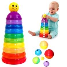 Развивающие стаканчики для малышей «Цвета радуги»
