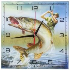 Настенные часы Сумасшедшая рыбалка