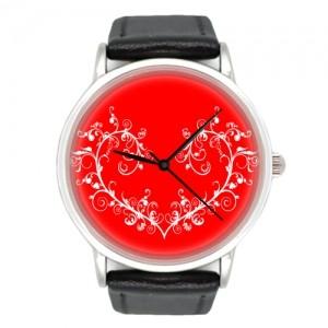Часы Красное сердце