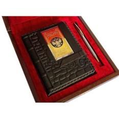 Набор «Кожаный ежедневник, ручка»
