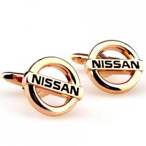 Запонки Nissan золотые