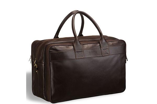 Дорожная коричневая сумка с портпледом Brialdi Lancaster