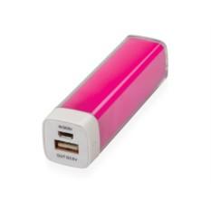 Розовое портативное зарядное устройство Ангра