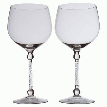 Пара бокалов для вина с кристаллами Фантазия