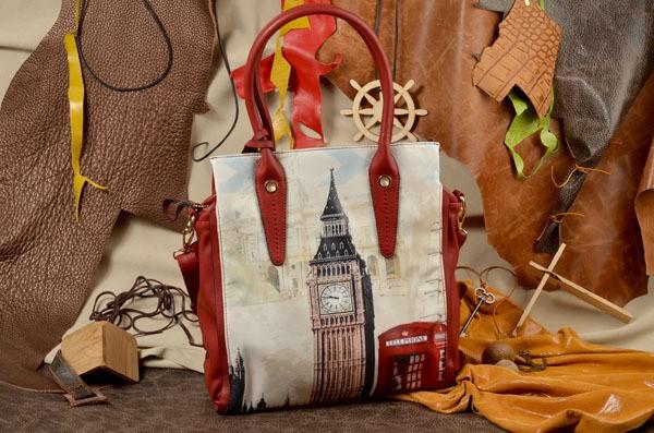 Женская сумка, красная