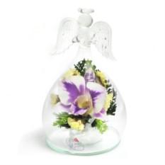Композиция Ангел из натуральных орхидей