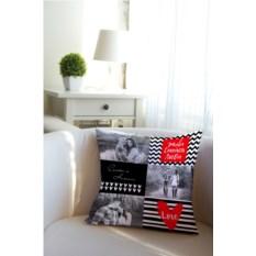 Декоративная именная подушка Живи, Смейся, Люби