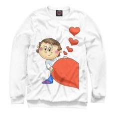 Женский свитшот Мальчик с половинкой сердца