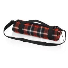 Красный плед для пикника с непромокаемой подкладкой