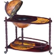 Напольный глобус-бар на колесиках