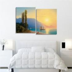 Модульная картина Айвазовский. Закат над Ялтой