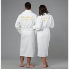 Комплект халатов с вышивкой Новогодний