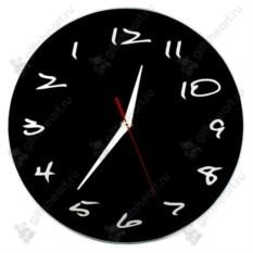 Часы с обратным ходом Классика в черном