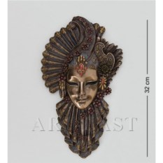 Венецианская маска Рубин (цвет: бронзовый)