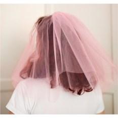 Фата для девичника (цвет — светло-розовый)
