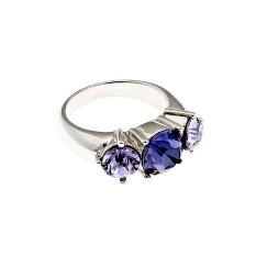 Кольцо  с кристаллами Swarovski Трилогия