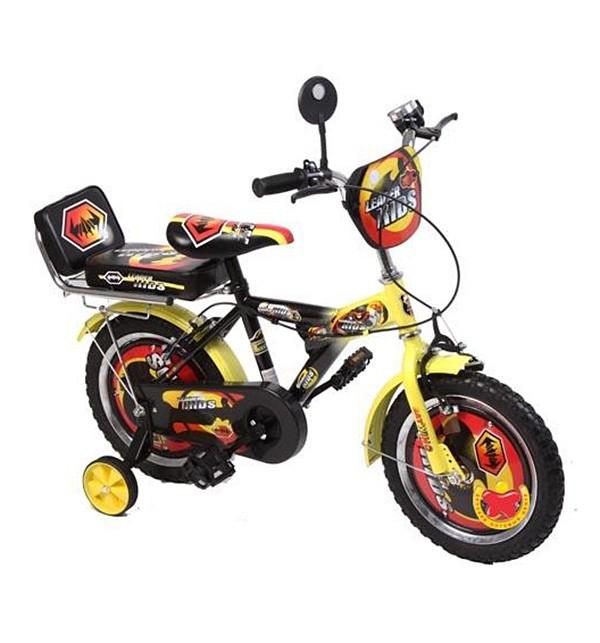 Велосипед Leader Kids G14BA104, цвет: синий/черный/желтый