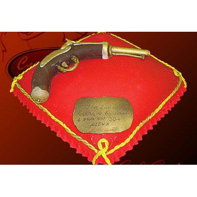 Марципановый юбилейный торт