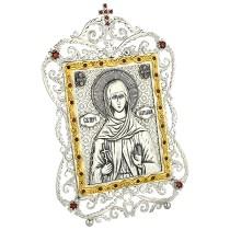 Серебряная икона с образом святой мученицы Натальи