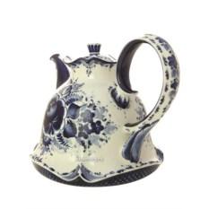 Доливной чайник с росписью гжель Колокольчик