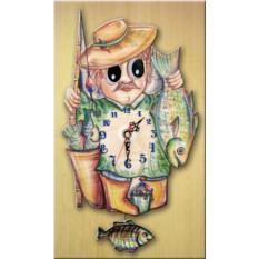 Часы настенные с маятником Рыболов
