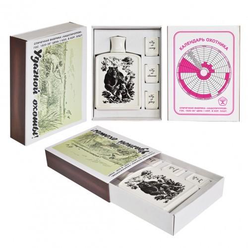 Подарочный набор в виде спичечного коробка Охотник
