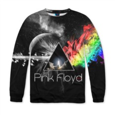 Мужской свитшот с полной запечаткой Pink Floyd