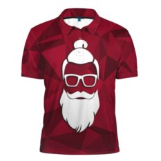 Мужская рубашка поло 3D Санта хипстер