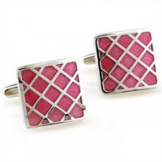 Запонки Розовая решетка